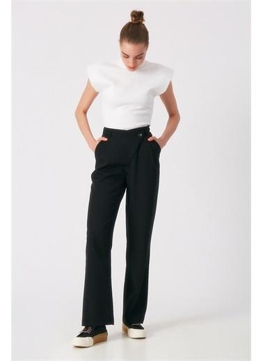 Robin Bel Detaylı Pantolon Siyah Siyah